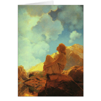 Maxfield Parrishの朝(春)のヴィンテージの芸術 カード