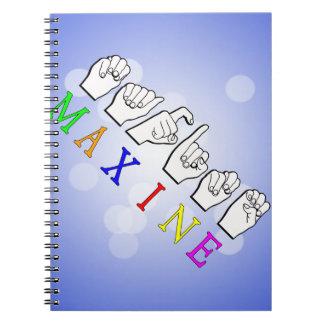 MAXINE ASL FINGERSPELLEDの一流の印 ノートブック