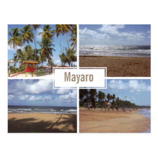 Mayaroのビーチのコラージュ(数々の眺め)の郵便はがき ポストカード