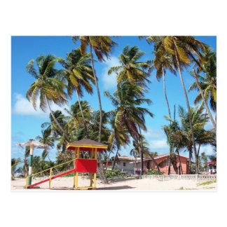 Mayaroのビーチのライフガードタワー、トリニダードの郵便はがき ポストカード