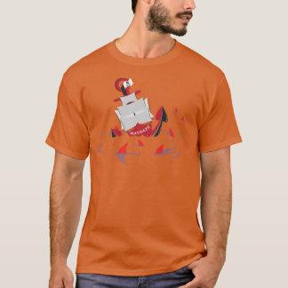 maydazeの鮫の円 tシャツ