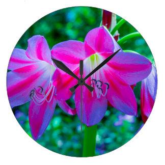 Mayfield公園のテキサス州の野生の花 ラージ壁時計