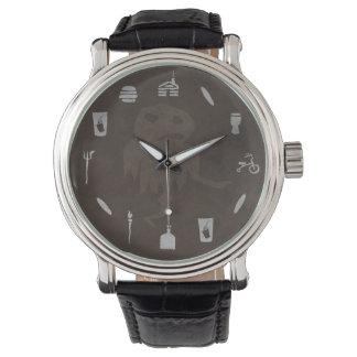 """Mayfield時間""の肉ベビーのヴィンテージ腕時計-ブラウン 腕時計"