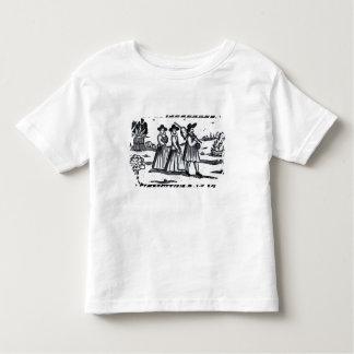 Mayflowerの巡礼者によって置かれる帆 トドラーTシャツ