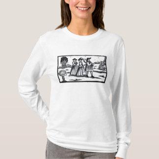 Mayflowerの巡礼者によって置かれる帆 Tシャツ