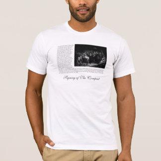 Mayflowerの巡礼者の父-コンパクトの署名 Tシャツ