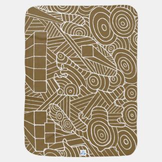 Maze of map -baby blanket original travel map ベビー ブランケット