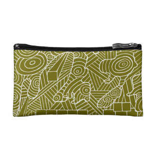 Maze of map cosmetic bag with cute doodle pattern コスメティックバッグ
