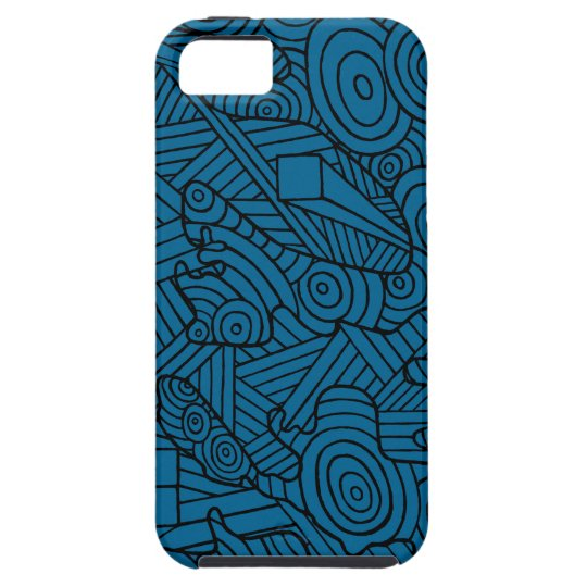 Maze of map. phone case with cute doodle pattern iPhone SE/5/5s ケース