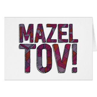 Mazel Tovのパッチワークのメルロー カード
