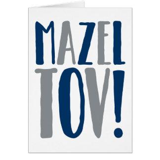 Mazel Tovのブロック海軍 + 灰色 カード