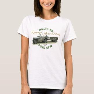 MB GPWの点あなたの年長者-女性 Tシャツ