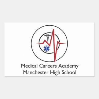 MCAのスワッグのロゴ2 長方形シール