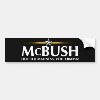 McBushのアンチMcCainのバンパーステッカー バンパーステッカー