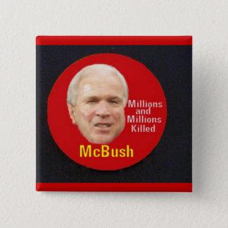 McBushの正方形ボタン 缶バッジ