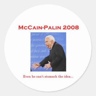 McCainの討論モンスターのステッカー ラウンドシール