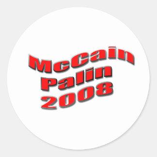 mccainのpalin 2008年 ラウンドシール