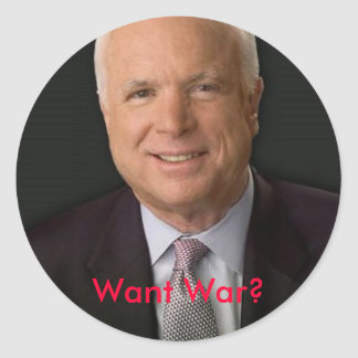 mccainは、戦争がほしいと思いますか。 ラウンドシール