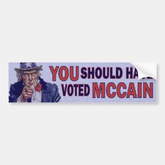 McCainを投票するべきです バンパーステッカー