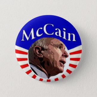 McCainボタン 5.7cm 丸型バッジ