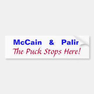 McCain   及び   Palinは、パックここにストップ! バンパーステッカー