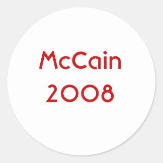 McCain 2008年 ラウンドシール