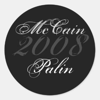 McCain 2008年、Palin ラウンドシール