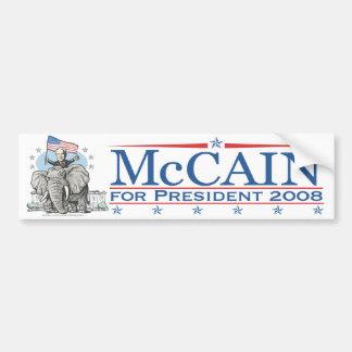 McCain GOP象2008年を選んで下さい バンパーステッカー