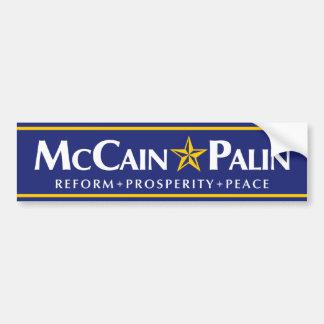 McCain-Palinのバンパーステッカー バンパーステッカー