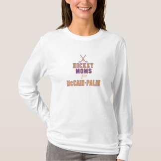 McCain PalinのTシャツのためのホッケーのお母さん Tシャツ