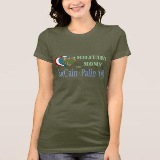McCain PalinのTシャツのための軍のお母さん Tシャツ