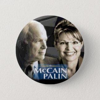 McCain Palinボタン 5.7cm 丸型バッジ