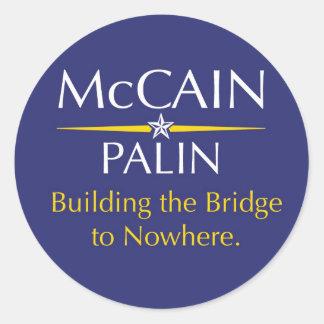McCain-Palin: どこもへの橋を造ること ラウンドシール
