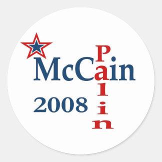 McCain Palin 2008年 ラウンドシール