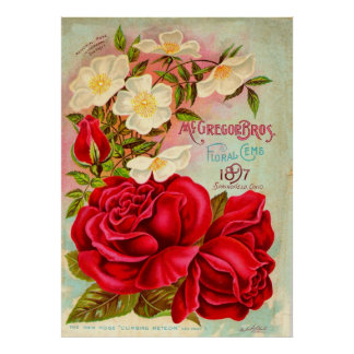 McGregor Bros。 花の宝石広告 ポスター