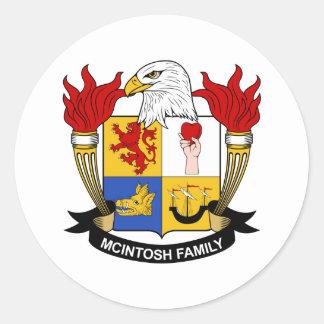 McIntoshの家紋 ラウンドシール
