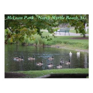 McLean公園-北のMyrtle Beach、サウスカロライナ ポストカード