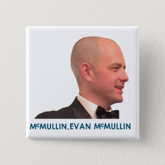 McMullin、エバンMcMullin 0045 5.1cm 正方形バッジ
