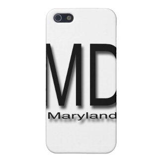 MDメリーランドの黒 iPhone 5 CASE