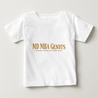 MD MBAの天才ギフト ベビーTシャツ