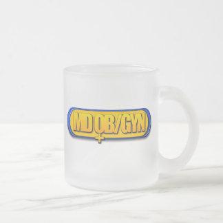 MD OB/GYNのロゴの楕円形の産科学のGYNECOLOGY フロストグラスマグカップ