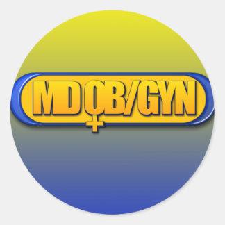 MD OB/GYNのロゴの楕円形の産科学のGYNECOLOGY ラウンドシール