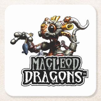 MD Steampunkのドラゴン スクエアペーパーコースター