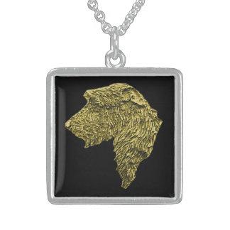 Mdm正方形のスターリングの銀製のネックレス(金ゴールドか黒) スターリングシルバーネックレス