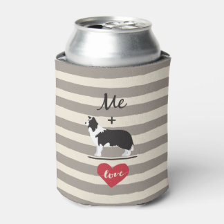 Me plus Border Collie equal Love Can Cooler 缶クーラー