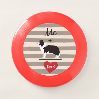 Me plus Border Collie equal Love Frisbee Wham-Oフリスビー