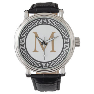 meandrosのモノグラム|、ギリシャの焦燥 腕時計