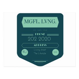 MeaningfulLivingの黒板のロゴ ポストカード