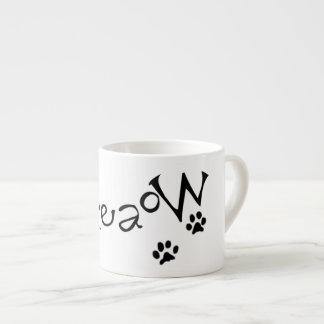 Meaow動物猫ペット足の手紙の白黒 エスプレッソカップ