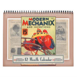 Mechanix及び発明のモダンなカレンダー カレンダー